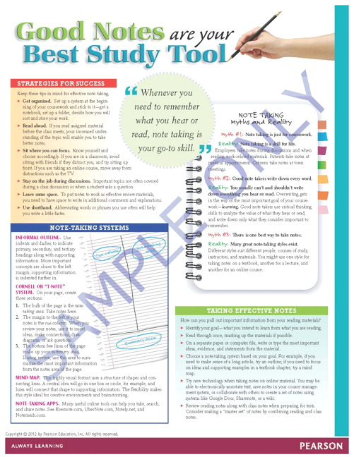 Success Tips: Good Notes Are Your Best Study Tool