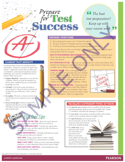 Success Tips: Prepare for Test Success