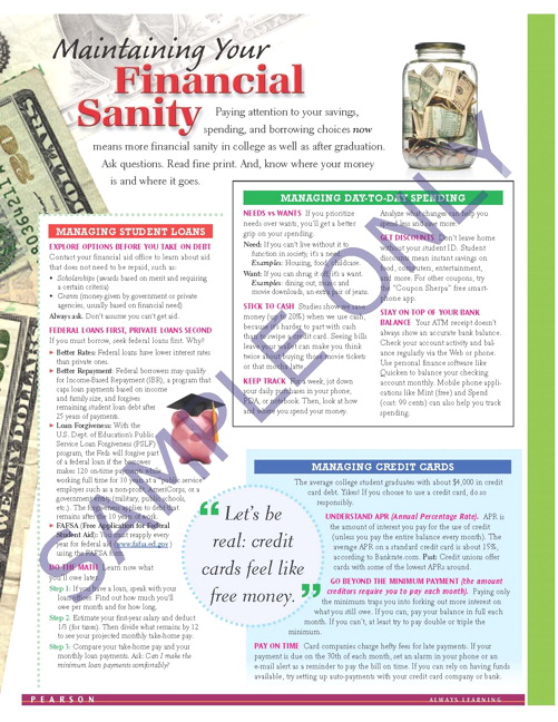 Success Tips: Maintaining Your Financial Sanity