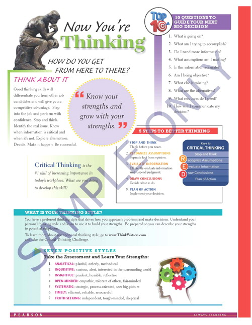 Success Tips: Now You're Thinking