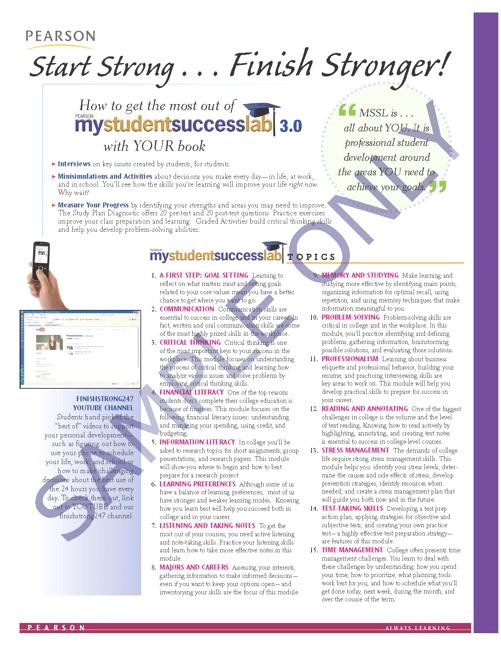Success Tips: MyLab Student Success