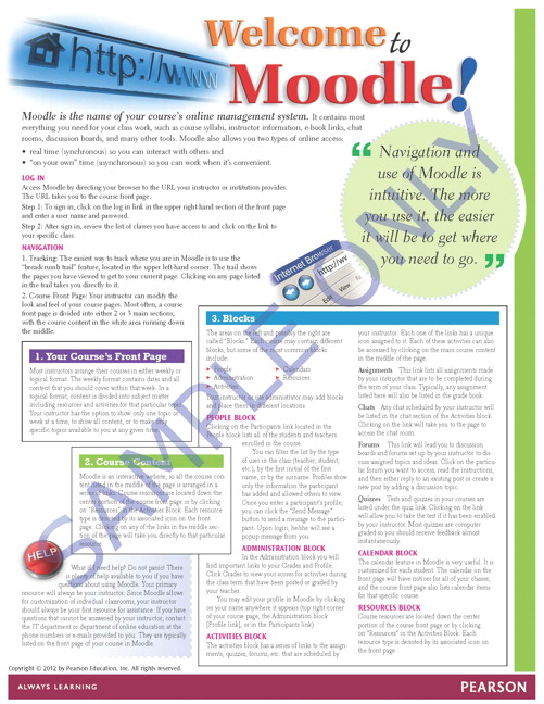 Success Tips: Welcome to Moodle!