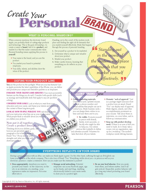 Success Tips: Create Your Personal Brand