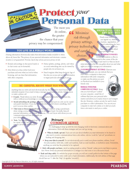 Success Tips: Protect Your Personal Data