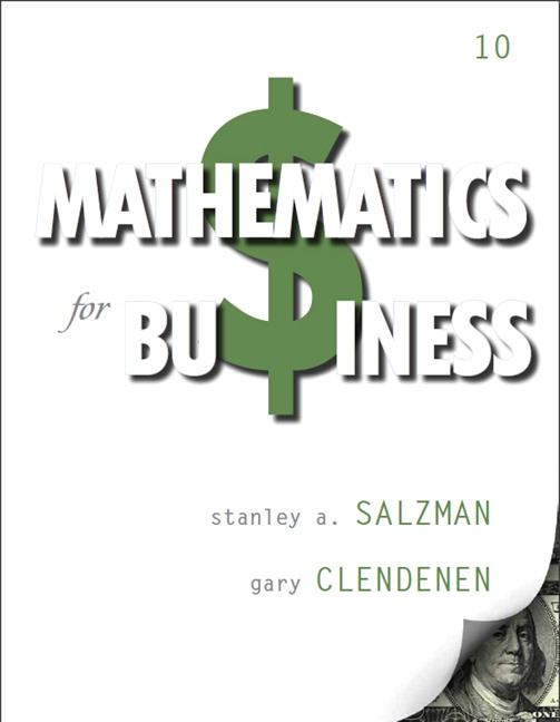 Salzman clendenen mathematics for business pearson mathematics for business subscription 10th edition fandeluxe Image collections