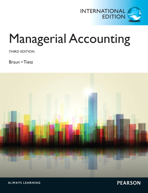 Managerial Accounting: International Edition, 3rd Edition
