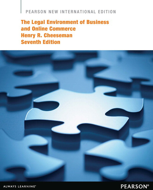Cheeseman legal environment of business and online commerce the legal environment of business and online commerce the subscription 7th edition cheeseman fandeluxe Gallery