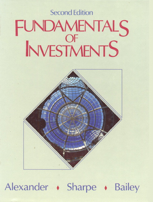 alexander sharpe bailey fundamentals of investments 3rd edition rh pearson com  Alexander Sharp Actor