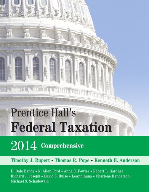 prentice halls federal taxation 2014 corporations 27e The most recent federal taxation mandates with the highest level of readability and relevancy for readersthe anderson/pope/ 15% off your order with code bnfriends goodnight goon only $799 with purchase.