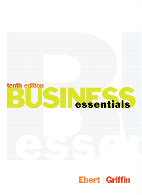 Ebert griffin business essentials pearson business essentials subscription 10th edition fandeluxe Image collections