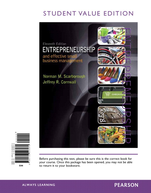 Scarborough cornwall entrepreneurship and effective small entrepreneurship and effective small business management student value edition 11th edition fandeluxe Image collections