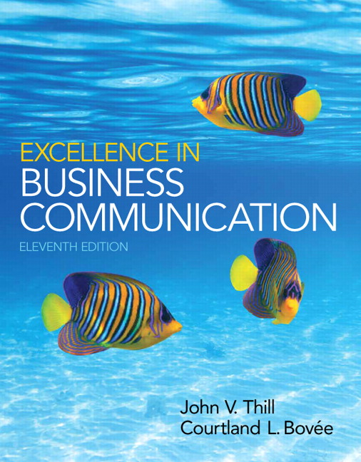 Thill bovee excellence in business communication pearson excellence in business communication 11th edition fandeluxe Image collections