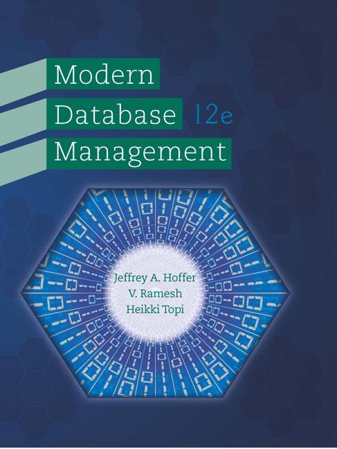Hoffer Venkataraman Topi Modern Database Management 12th