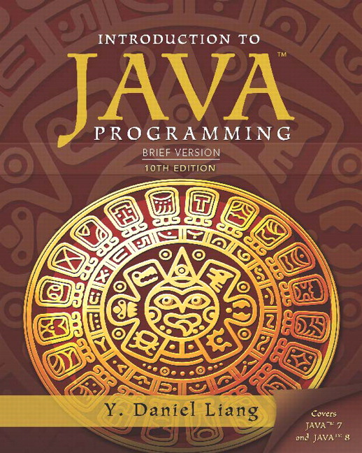 Liang Intro To Java Programming Brief Version Pearson