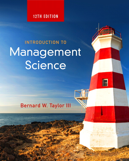 Taylor introduction to management science 12th edition pearson introduction to management science 12th edition fandeluxe Gallery