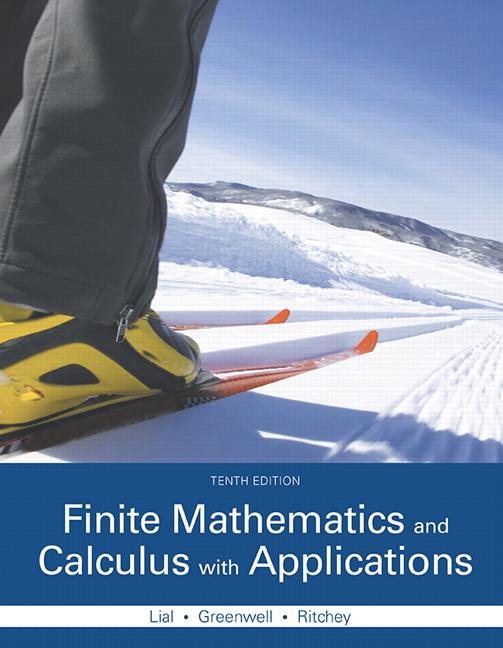 Lial, Greenwell & Ritchey, Finite Mathematics and Calculus