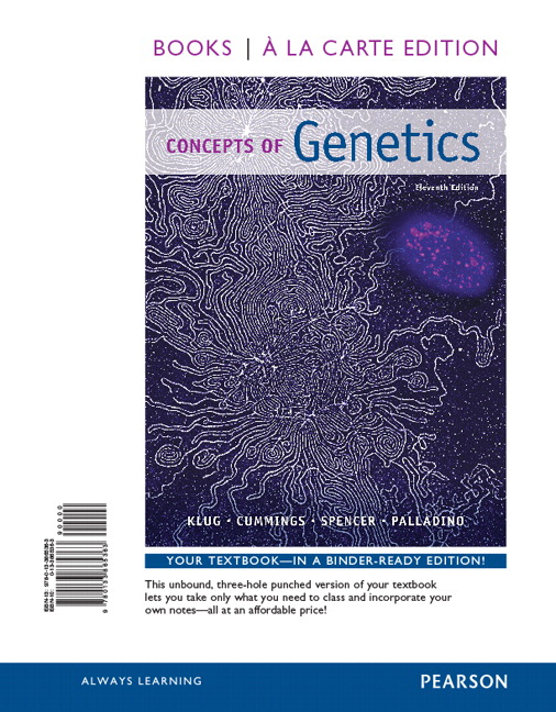 klug cummings spencer palladino concepts of genetics pearson