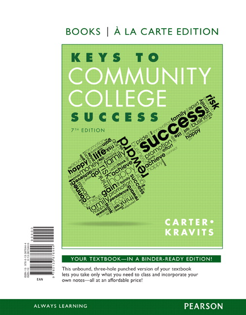 Carter kravits keys to community college success pearson keys to community college success student value edition 7th edition fandeluxe Choice Image