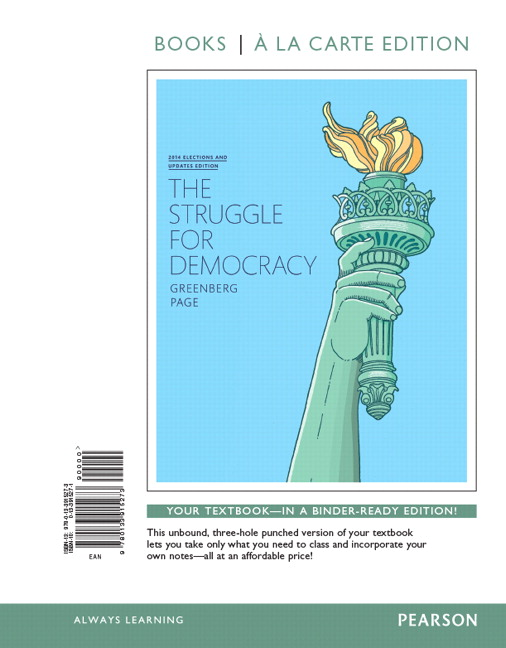 Greenberg page struggle for democracy the 2014 elections and struggle for democracy the 2014 elections and updates edition books a la carte edition 11th edition fandeluxe Images