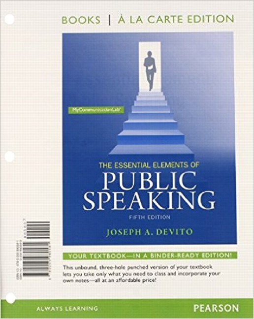 REVEL for Essential Elements of Public Speaking -- Access Card (6th Edition)