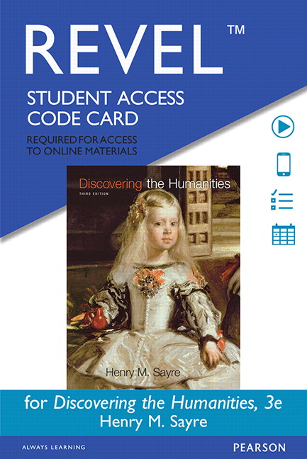 Sayre revel for discovering the humanities access card 3rd package isbn 9780134536385 fandeluxe Image collections
