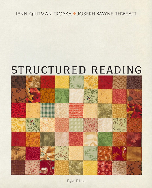 Troyka thweatt structured reading 8th edition pearson structured reading 8th edition fandeluxe Image collections