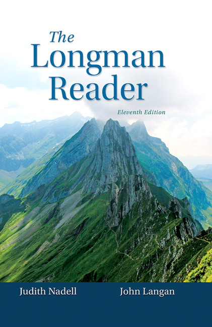 Nadell langan longman reader the 11th edition pearson longman reader the fandeluxe