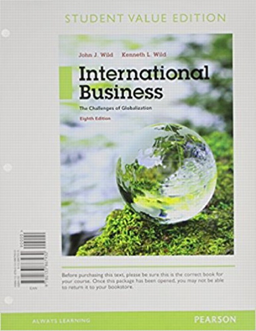 Wild wild international business the challenges of globalization international business the challenges of globalization student value edition plus mylab management with pearson etext access card package 8th edition fandeluxe Images
