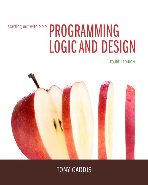 Starting Out With Programming Logic And Design 4th Edition View Larger