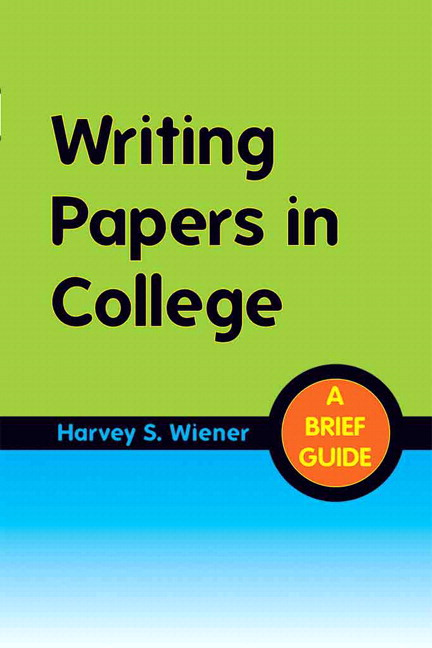 writing papers in college a brief guide Description writing papers in college provides clear, concise guidance on a comprehensive range of composition topics–writing.