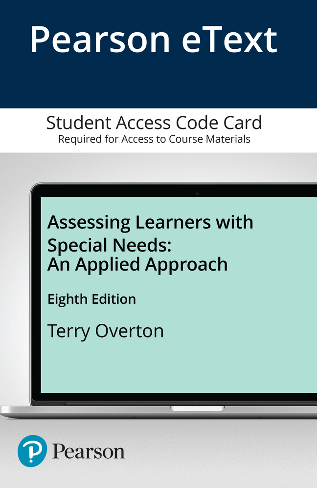Turnbull turnbull wehmeyer shogren exceptional lives special assessing learners with special needs an applied approach enhanced pearson etext access card 8th edition fandeluxe Gallery