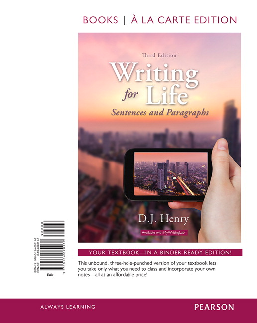 writing for life paragraph to essay by dj henry Edition (9780134021690) by dj henry for up to 90% off at textbookscom writing for writing for life paragraphs and essays 4th edition full , related book.