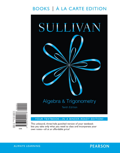 Sullivan, Algebra and Trigonometry, 10th Edition | Pearson