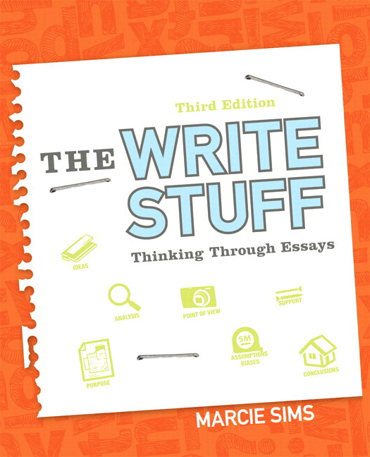 sims the write stuff thinking through essays rd edition pearson write stuff the thinking through essays plus mylab writing etext access card package 3rd edition