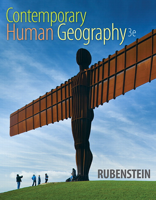 Rubenstein Contemporary Human Geography 3rd Edition Pearson