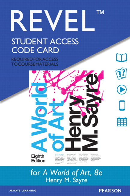 Sayre, Revel for A World of Art -- Access Card, 8th Edition | Pearson