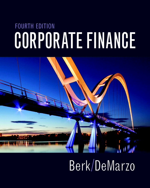 Berk demarzo corporate finance 4th edition pearson corporate finance 4th edition fandeluxe