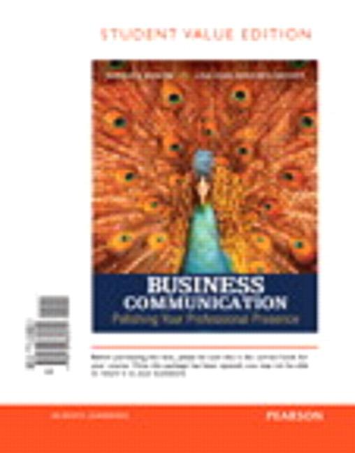 Business Communication Book Cover : Shwom snyder business communication polishing your