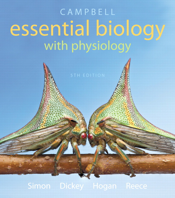 Simon dickey hogan reece campbell essential biology with campbell essential biology with physiology plus mastering biology with etext access card package 5th edition fandeluxe Choice Image