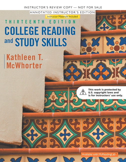 Annotated Instructor's Edition for College Reading and Study Skills