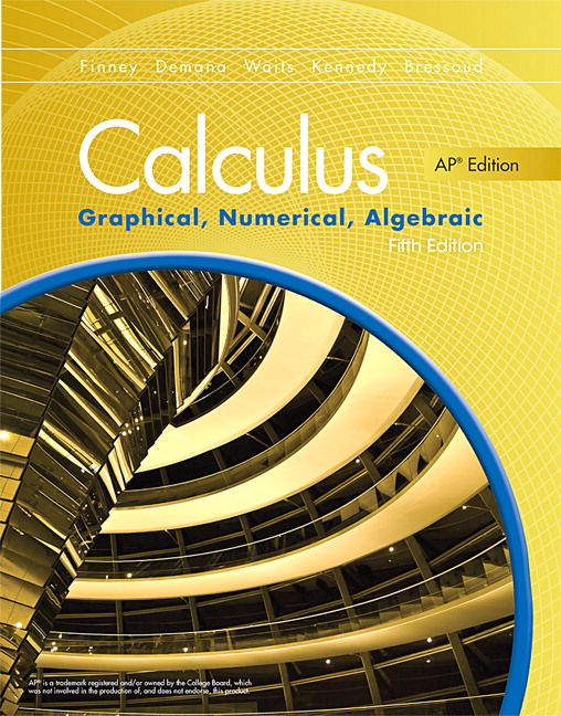 Downloadable Teacher's Resources for Calculus: Graphical, Numerical, Algebraic