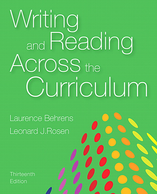 writing and reading across the curriculum 14th