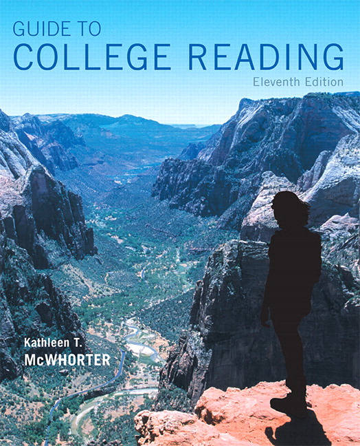 Mcwhorter guide to college reading 11th edition pearson guide to college reading plus mylab reading with pearson etext access card package 11th edition fandeluxe Image collections