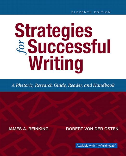 Reinking Von Der Osten Strategies For Successful Writing Pearson