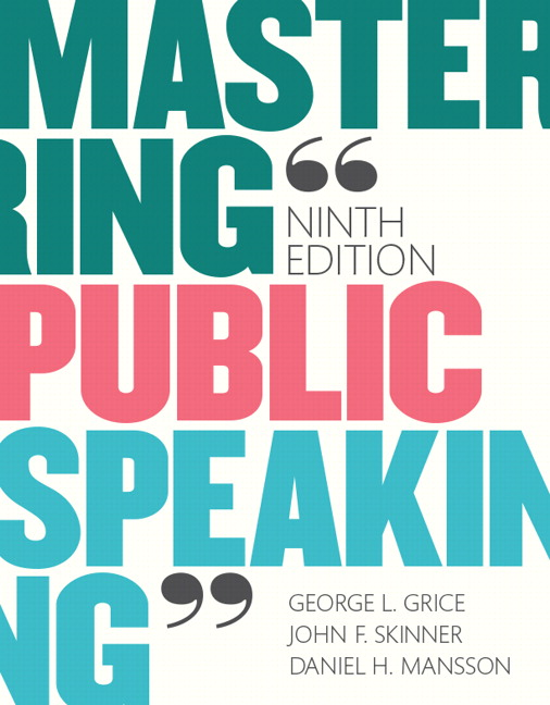 Mastering Public Speaking, 9th Edition
