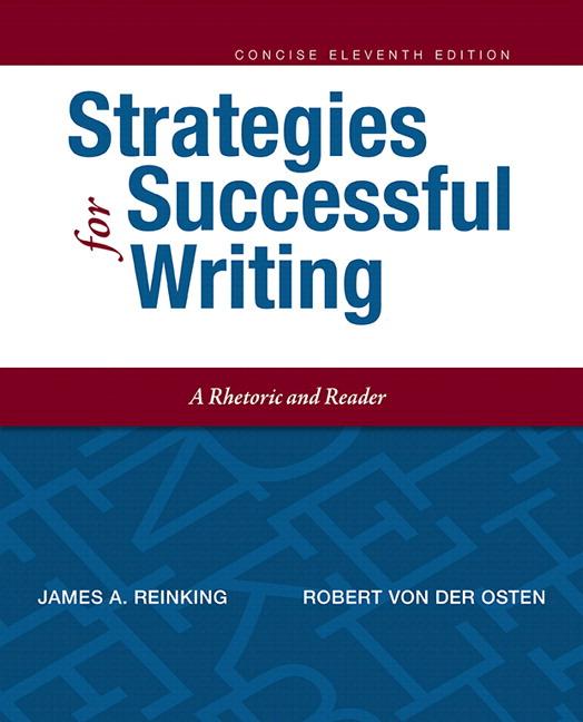 Reinking Von Der Osten Strategies For Successful Writing Concise