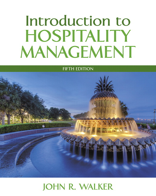 Walker Introduction To Hospitality Management 5th Edition Pearson