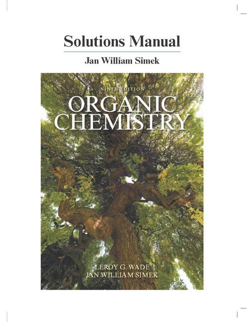Organic Chemistry Foote Solutions Manual