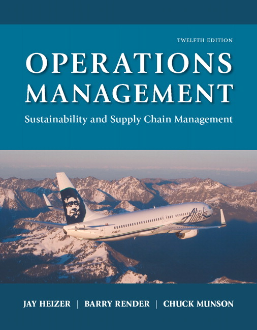 Heizer render munson operations management sustainability and operations management sustainability and supply chain management subscription 12th edition fandeluxe
