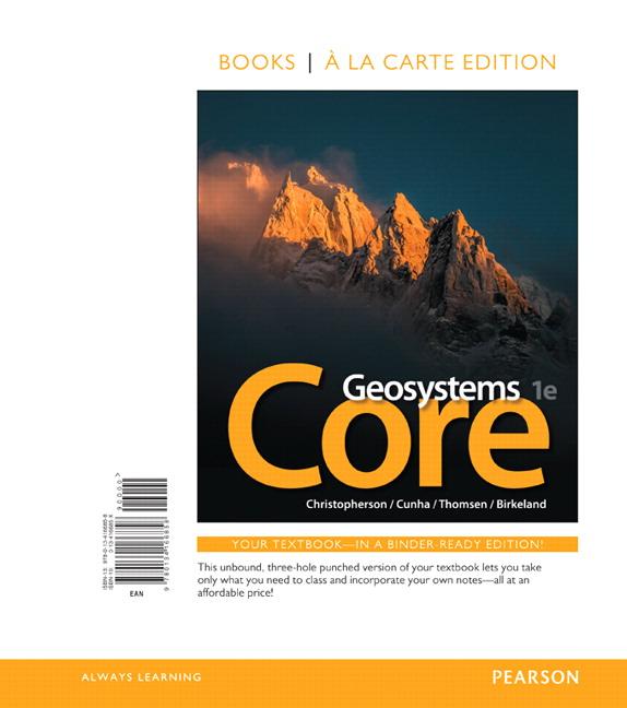 Geosystems Core, Books a la Carte Edition